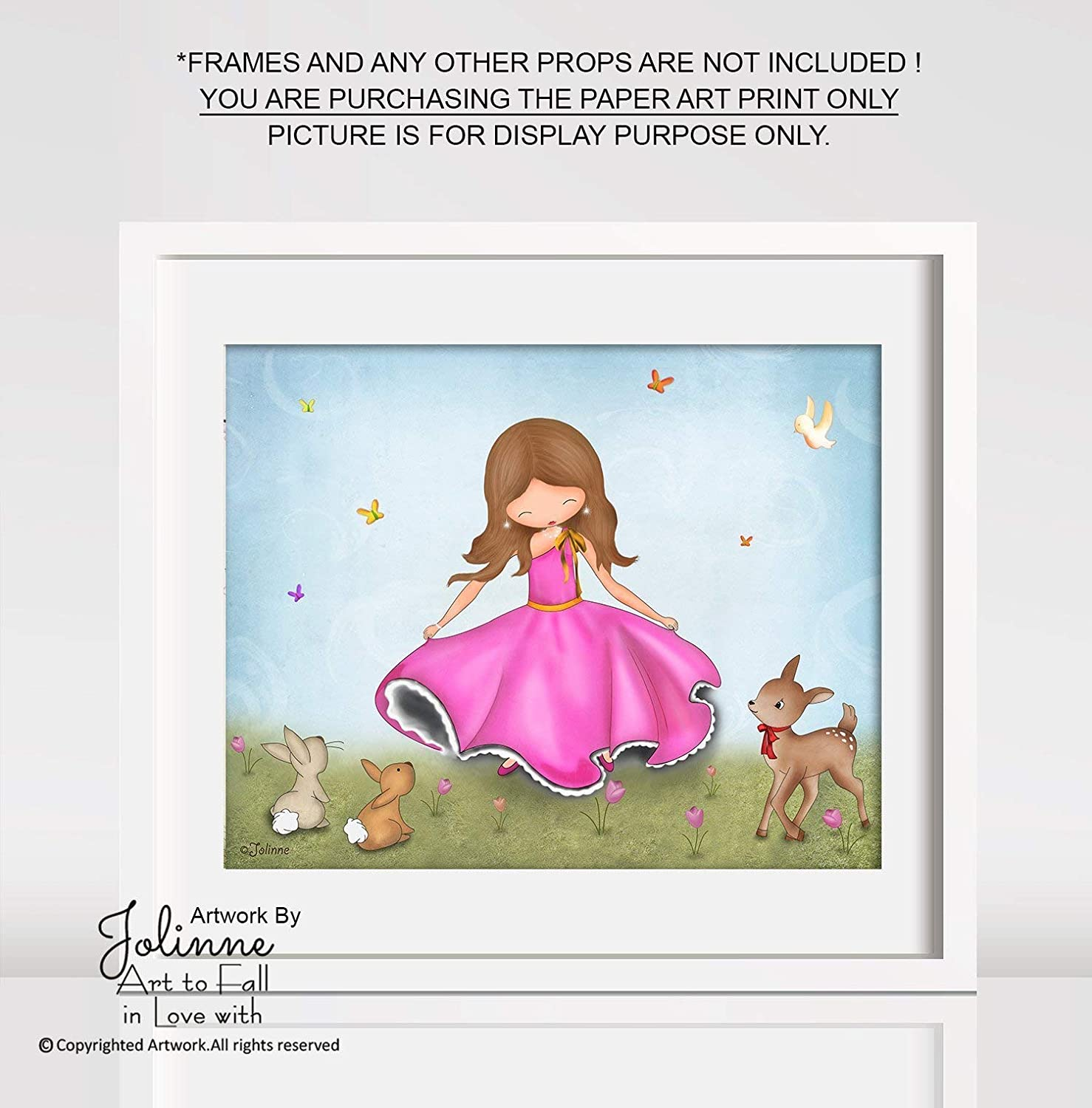 Amazon Com Poster For Girls Room Or Nursery Kids Artwork Art