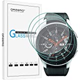 [3 Pack] Orzero for Samsung Galaxy Watch 2018 (46 mm) (Updated Version) Smartwatch/Gear S3 Tempered Glass Screen Protector, 2.5D Arc Edges HD Anti-Scratch Bubble-Free [Lifetime Replacement Warranty]