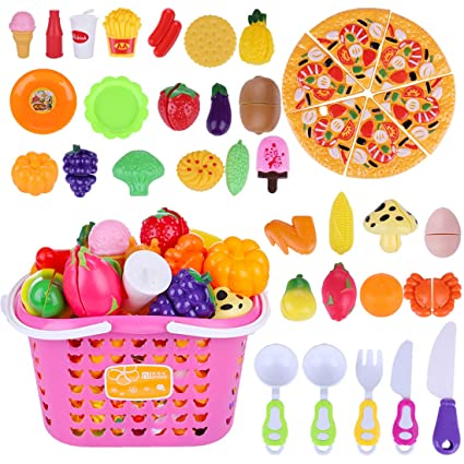 K9CK Alimentos de Juguete - 40 Piezas Juego de Comida Fruta ...