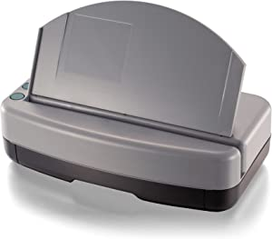 Officemate Heavy-Duty 3-Hole Electric Eco-Punch, 30 Sheet Capacity, Black/Gray/Green (90110)