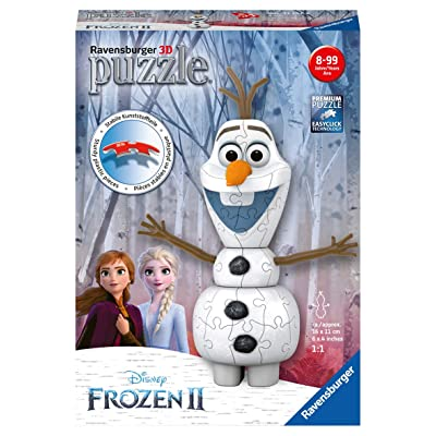 Ravensburger 11157 Disney Frozen 2 Olaf - 54 Piece 3D Jigsaw Puzzle for Kids and Adults - Easy Click Technology Means Pieces Fit Together Perfectly, No Glue Required, Multi: Toys & Games