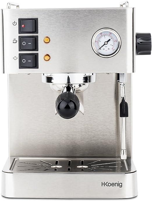 H.Koenig EXP530 Cafetera Express Espresso Profesional, 15 Bares ...