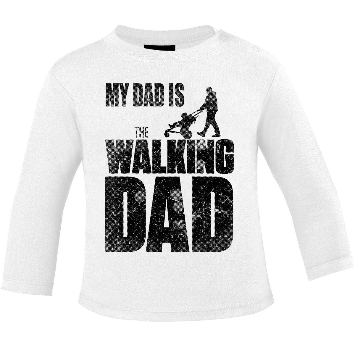 Mikalino Baby Longsleeve My Dad is The Walking Dad