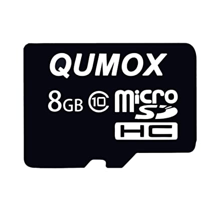 QUMOX 8GB MicroSD HC SDHCT Tarjeta de Memoria Flash Clase 10 ...