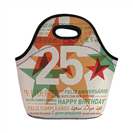 Amazon neoprene lunch bag 25th birthday decorations vintage neoprene lunch bag25th birthday decorationsvintage colored stars and greetings in different languages m4hsunfo