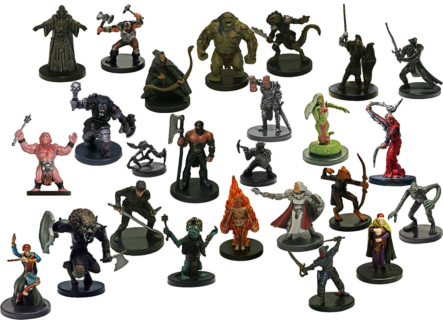 Dungeons and Dragons 25 Assorted D&d Miniatures Figures