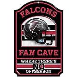 """NFL Atlanta Falcons Fan Cave Wood Sign, 11"""" x"""