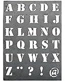Plade m/bogstaver zink stor