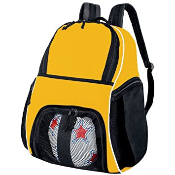 4ad5a47a09 Amazon.com  High Five Sportswear HI27850 Player Backpack - Gold ...