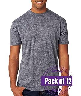 12 Pack Next Level Mens Tri-Blend V-Neck 6040-Vintage Navy