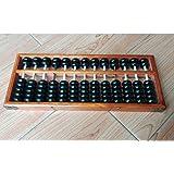 Boulier chinois traditionnel en bois 13chiffres Calculatrice arithmétique Soroban Kids Calcul calculer Outils Jouets mathématiques, Développer Enfant Intelligence, 29* * * * * * * * 12cm, marron