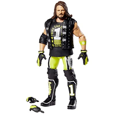 WWE AJ Styles Elite Collection Action Figure: Toys & Games