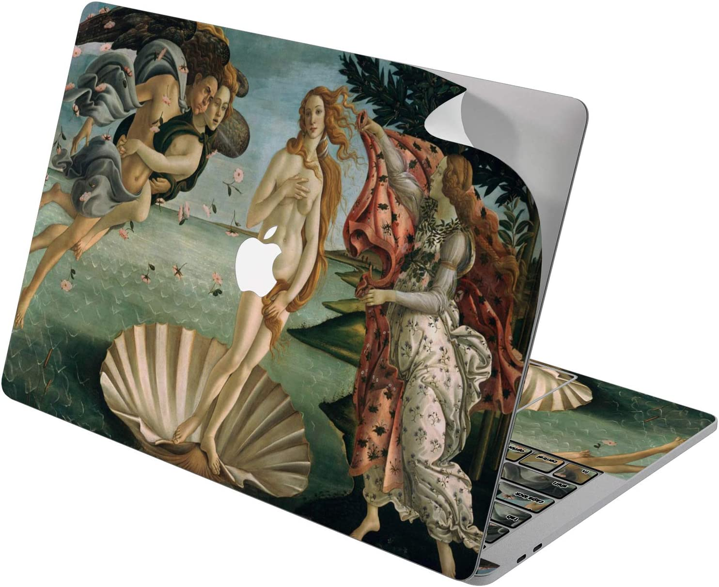 "Cavka Vinyl Decal Skin for Apple MacBook Pro 13"" 2019 15"" 2018 Air 13"" 2020 Retina 2015 Mac 11"" Mac 12"" Sticker The Birth of Venus Art Botticelli Design Painting Laptop Print Antique Cover Protective"