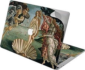 "Cavka Vinyl Decal Skin for Apple MacBook Pro 13"" 2019 15"" 2018 Air 13"" 2020 Retina 2015 Mac 11"" Mac 12"" Sticker The Birth of Venus Art Botticelli Design Painting Laptop Print Antique Cover Protective"