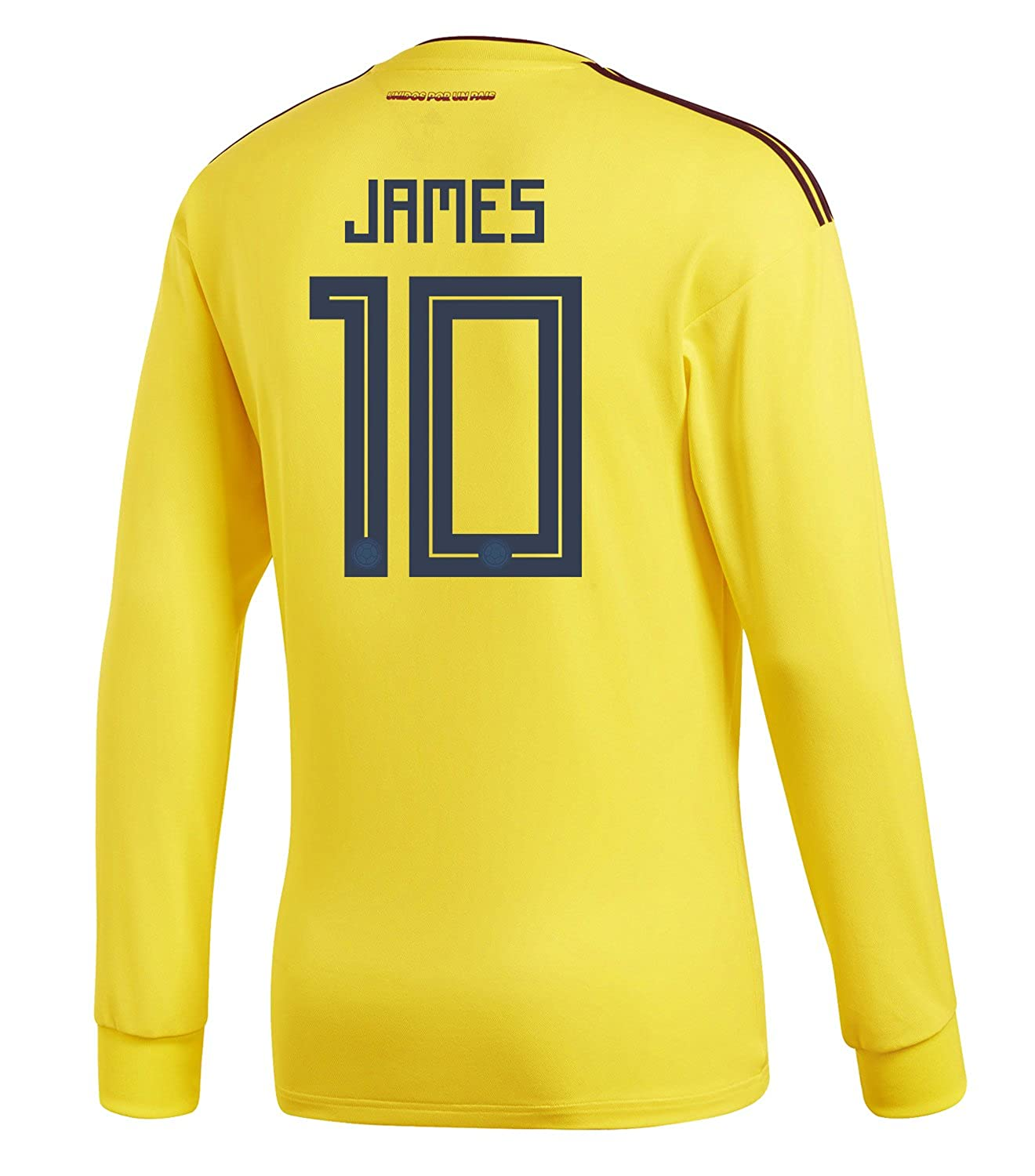 adidas Mens JAMES #10 Colombia Home Long Sleeve Soccer Jersey World Cup 2018 /サッカー ユニフォーム ハメス 背番号 10 コロンビア ホーム用 長袖 B07B8DXQQY US X-Large