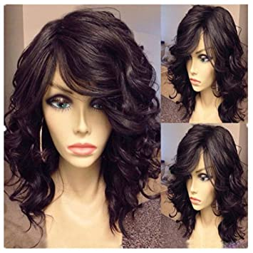 Best-Selling 6A Natural Wave Lace Front Wigs Brazilian Virgin Bob Wavy  Human Hair Wig dee250eaff