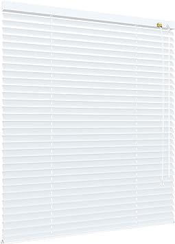 Höhe 220 cm weiß Alu Jalousie Aluminium Jalousette Fenster Jalusie Schalusie