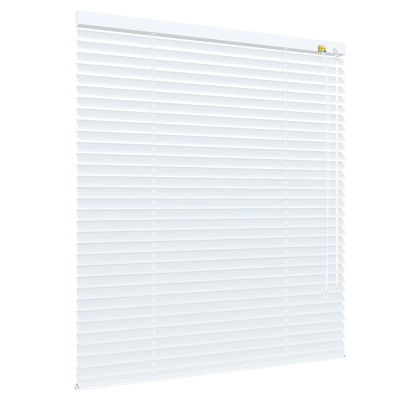 Deko-raumshop Alu Jalousie Aluminium Lamellen Metall Fenster Tür Rollo Weiß - Breite 40 bis 240 cm - Höhe 130 160   220 cm Jalousette Lamellenjalousie (190 x 220 cm) B0106BIJ7I Jalousien