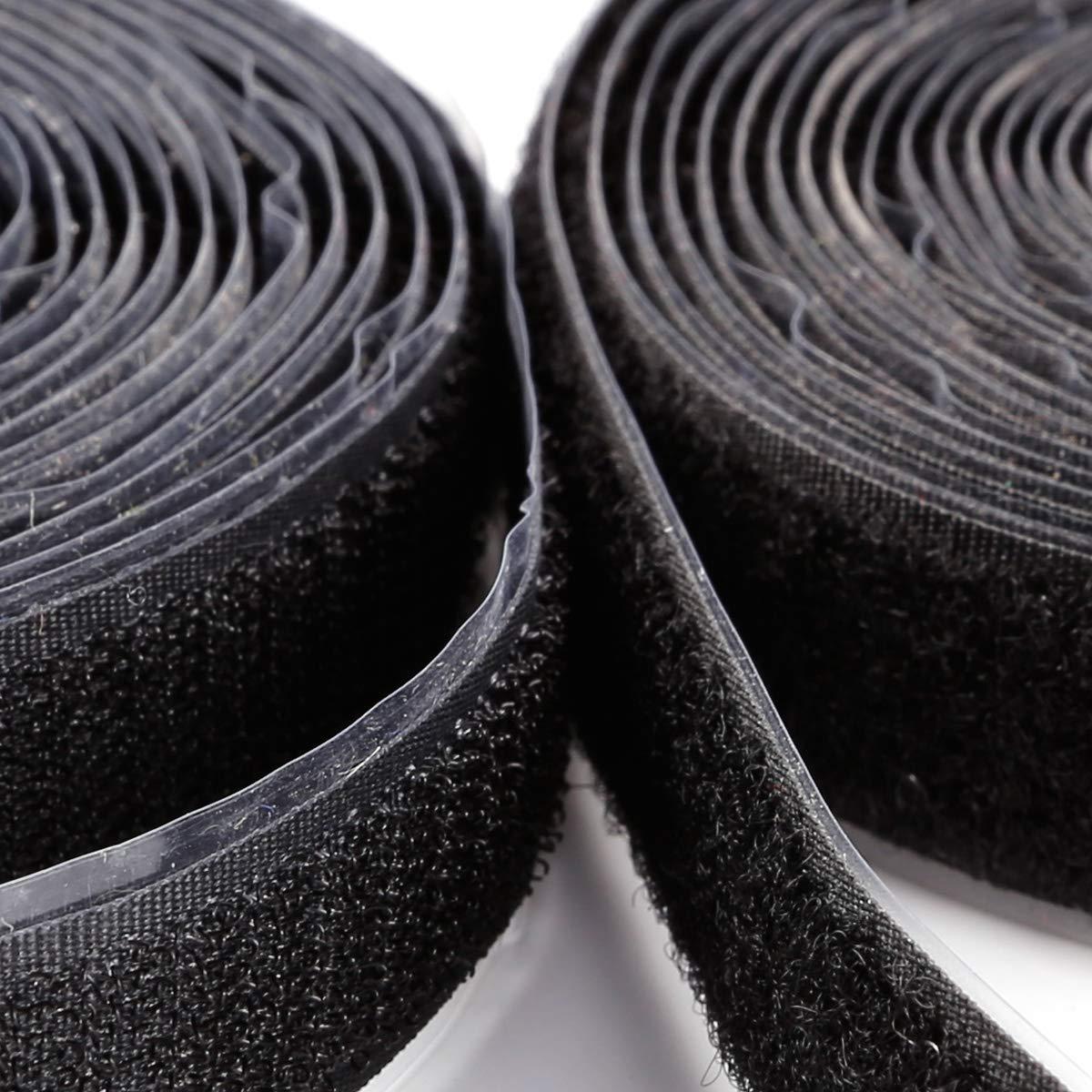 Gancho de banda para coser negro 2 cm de ancho de velcro