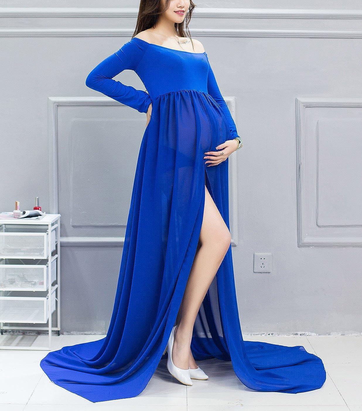9b1479cb2 Happy cherry Maxi Vestidos de Maternidad Fotografía Props Disfraz Apoyo  Fotográfico para Mujeres Embarazadas