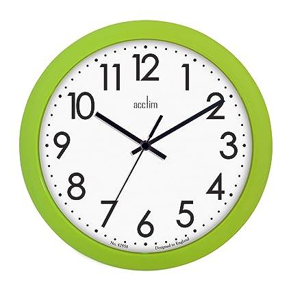 Acctim 21895 Abingdon Wall Clock Lime Green