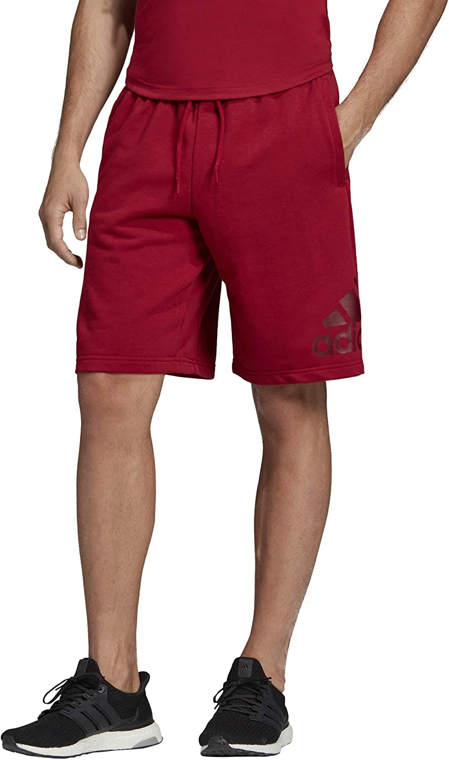 adidas Men's Ranking TOP18 Must Haves Badge Essential Popularity Shorts Maroon of Sport