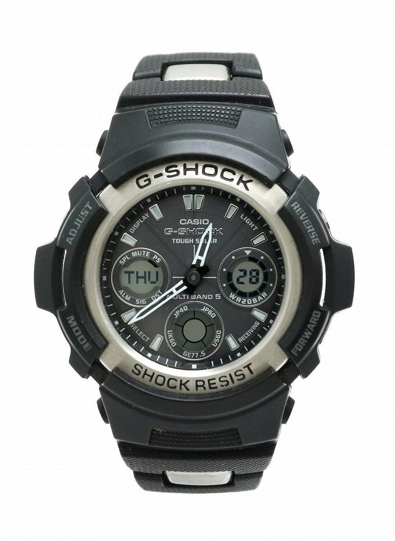 [カシオ] CASIO G-SHOCK GULMAN アナログ デジタル アナデジ 電波ソーラー タフソーラー マルチバンド メンズ 腕時計 AWG-100C B07DMK56N5