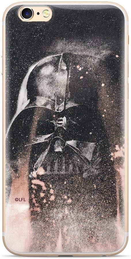 ERT Group Star Wars Darth Vader Carcasa Trasera Protectora Funda Antideslizante de Gel TPU para Xiaomi Redmi Note 8 - Negro