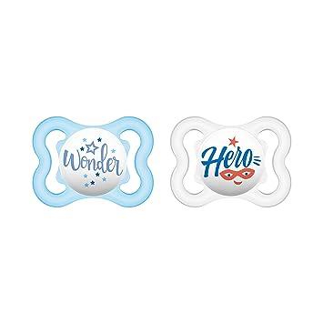 extra leichtes und luftiges Schilddesign MAM Schnuller 6-16 Monate MAM Air Latex Schnuller im 2er-Set zahnfreundlicher Baby Schnuller aus Naturkautschuk mit Schnullerbox blau