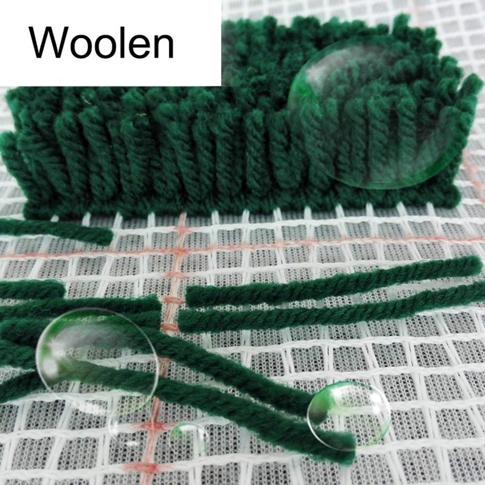 Yellow MLADEN Latch Hook Kits DIY Tools Crocheting Rug Embroidery Shaggy Decoration Family Gift and Activity 20 X 16.5