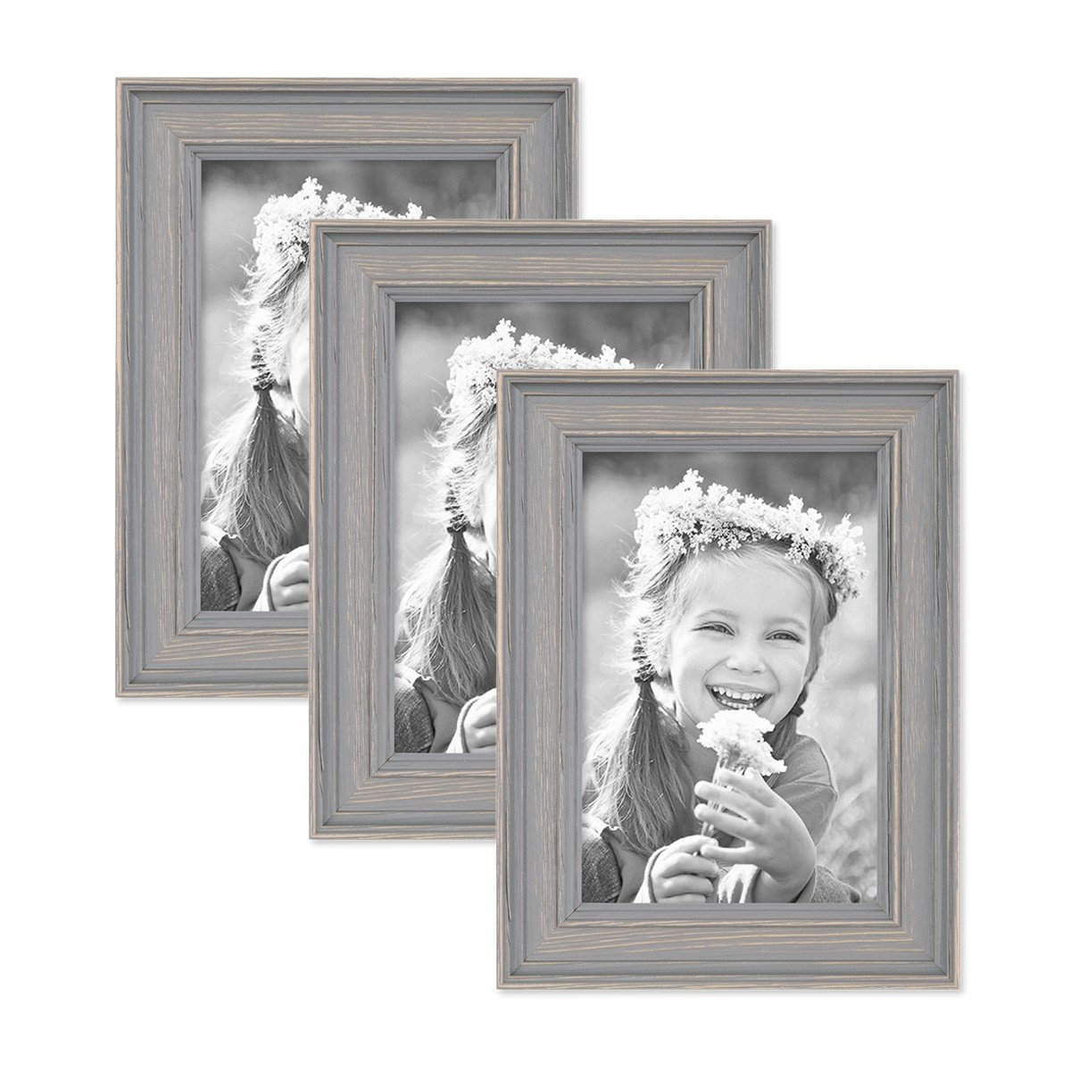 Amazon.com: 3 Piece Set of Picture Frames in Scandinavian Country ...