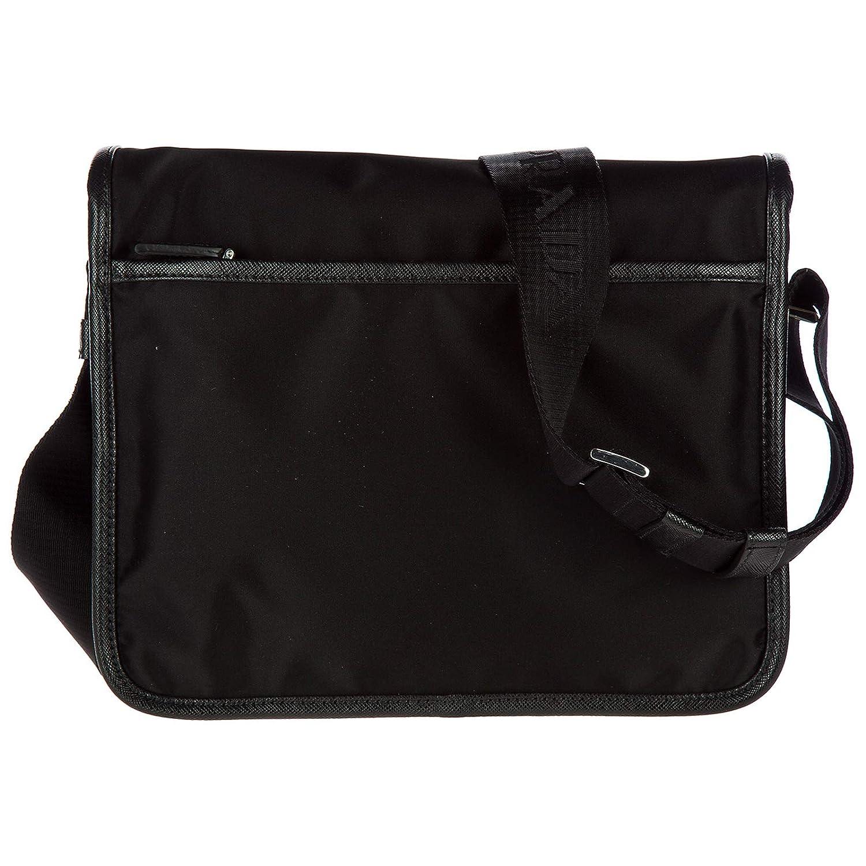 0d9e37a9beeb Prada men's Nylon cross-body messenger shoulder bag black: Amazon.ca: Shoes  & Handbags
