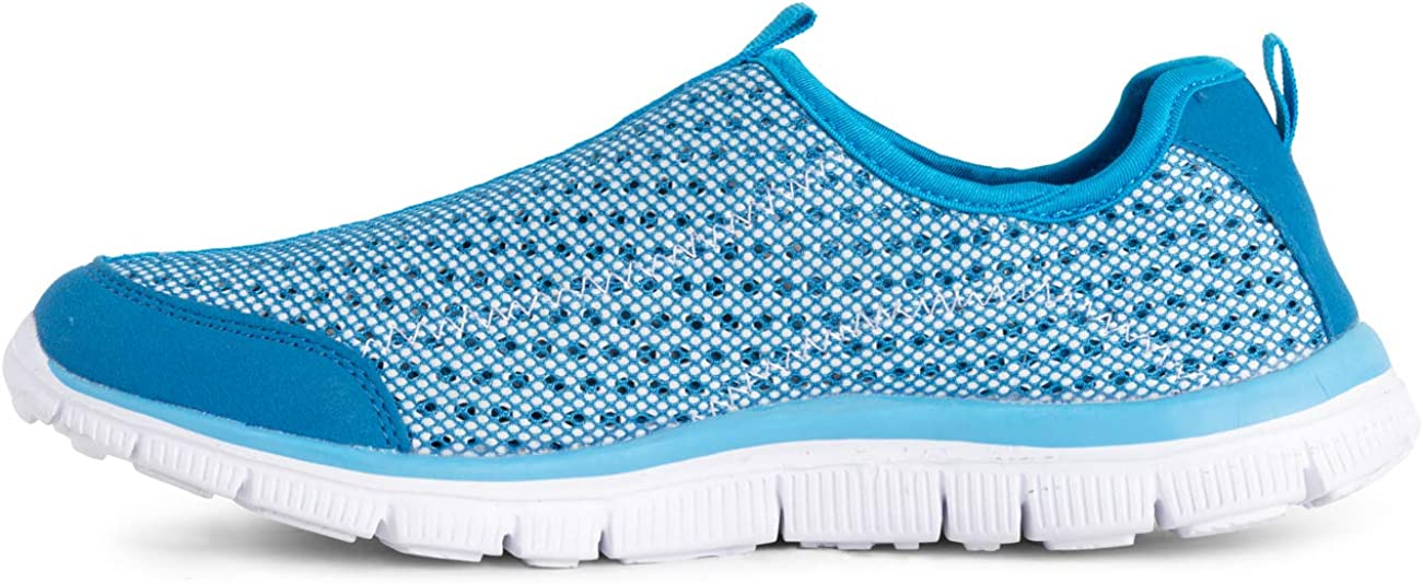 Get Fit Mens Water Shoes Aqua Beach Lightweight Slip On Pool Sea Surf Trainers