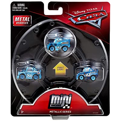 Disney Pixar Cars Mini Racers Metallic Series 3-Pack: Toys & Games