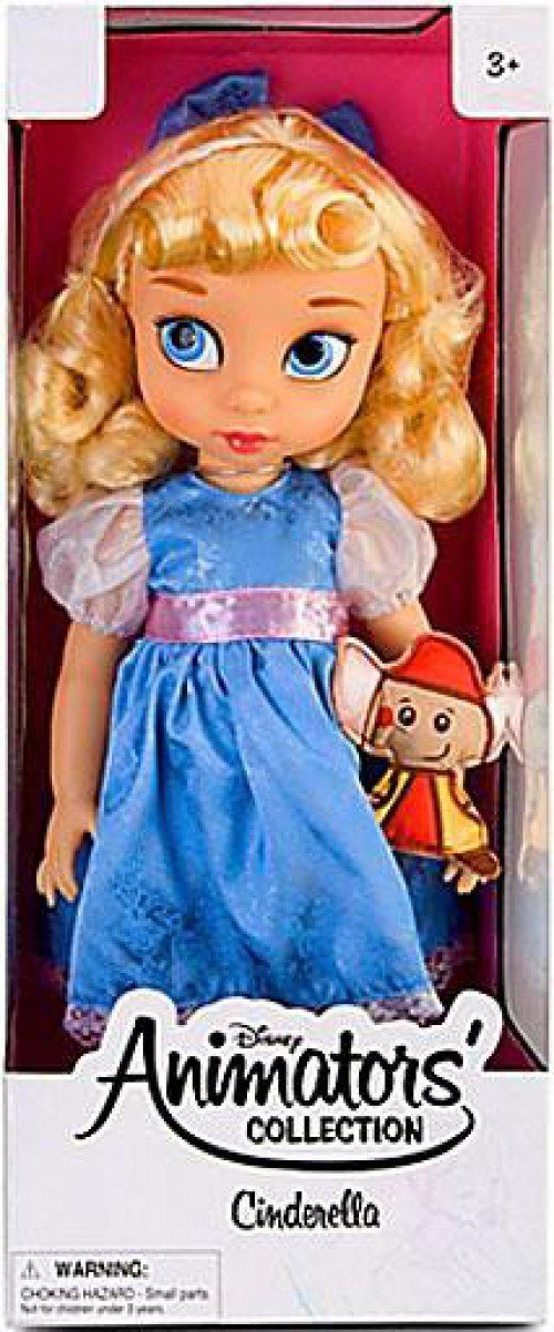 Disney Princess Animators' Collection Toddler Doll 16'' H - Cinderella with Plush Friend Jaq