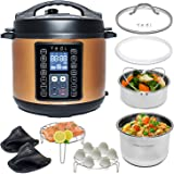 Yedi 9-in-1 Total Package Instant Programmable Pressure Cooker, 6 Quart, Deluxe Accessory kit, Recipes, Pressure Cook, Slow C