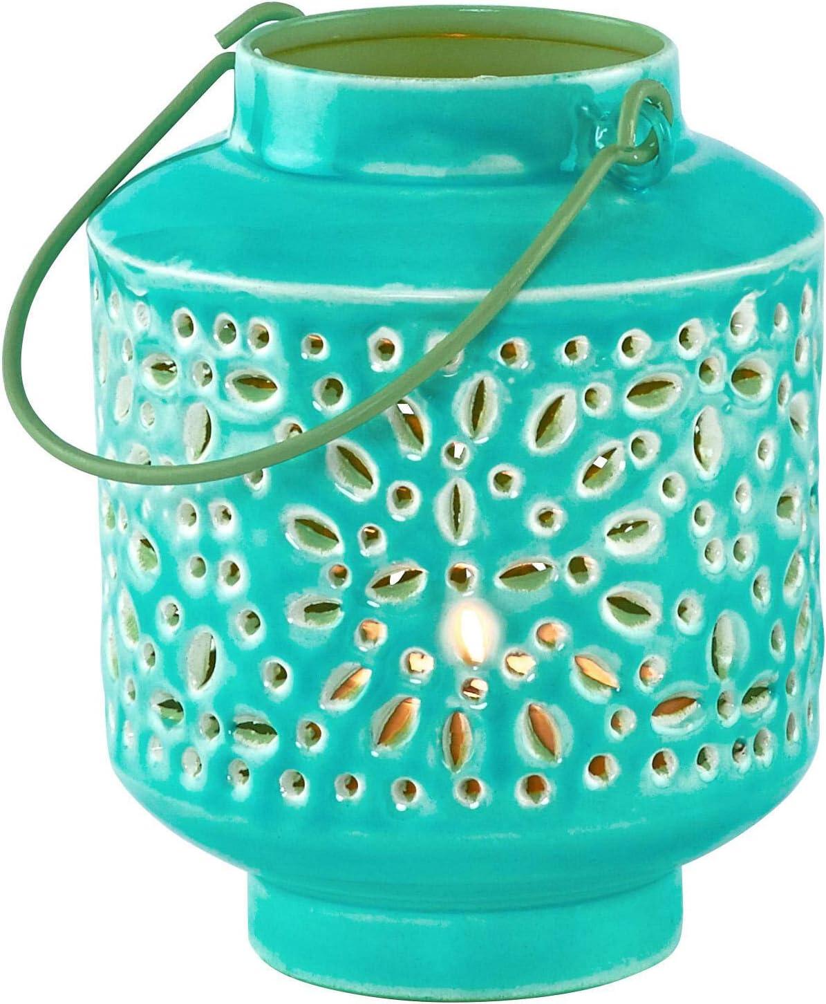 Tuerkis Laterne Butlers Blue MAROCCO Windlicht H/öhe 12,5 cm Orientalisch 12,5cm