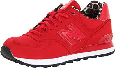 New Balance Women's WL574 High Roller Collection Running Shoe,Red,5