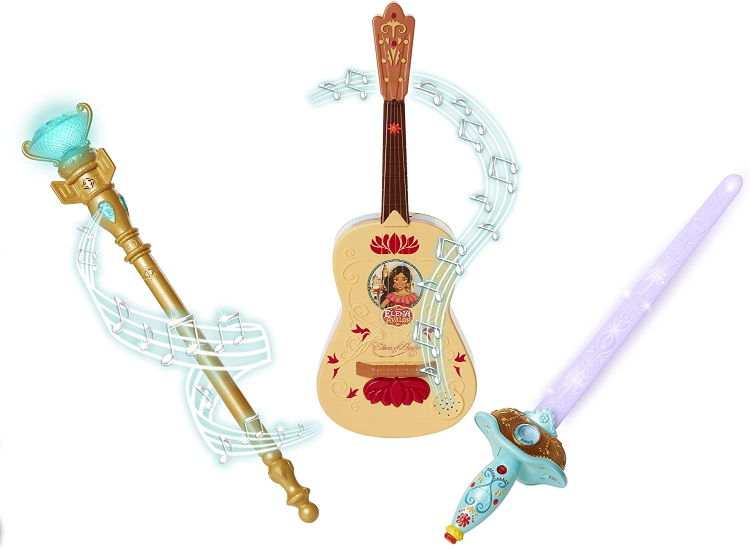 Elena Of Avalor Triple Power Pack (Guitar, Sword, Scepter) Toy