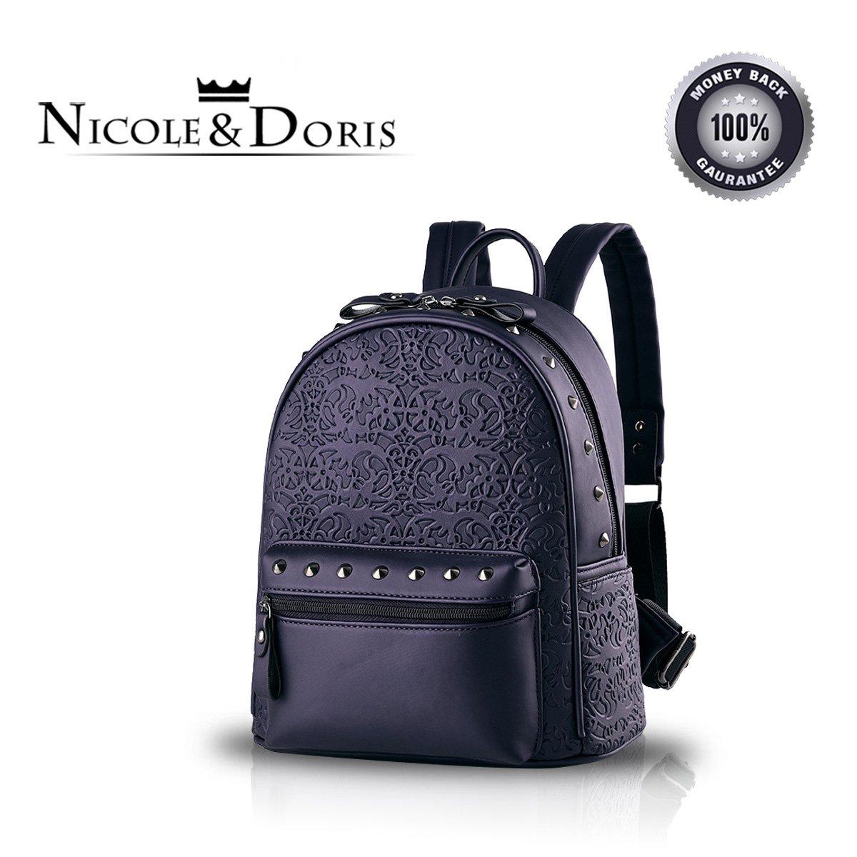 Nicole&Doris New Präge Mode Wilde Reisetaschen Mädchen-Schule-Taschen Rucksäcke PU-Leder-Handtas...