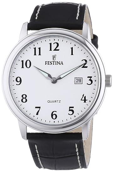 Festina F16516 1 - Reloj analógico de cuarzo para hombre con correa de  piel a35eb80a159e