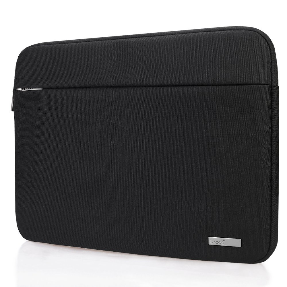 Lacdo 15.6 Inch Laptop Sleeve Bag for Acer Aspire/Predator, Toshiba, Dell Inspiron, ASUS P-Series, HP Pavilion, Lenovo, MSI GL62M, Chromebook Notebook Carrying Case Tablet, Water Resistant, Black by Lacdo (Image #8)