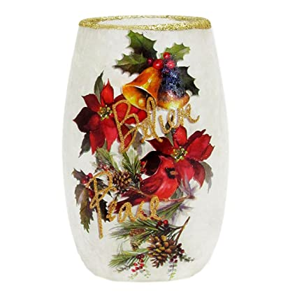 Amazon Stony Creek 5 Tall Oval Lighted Glass Vase Holiday