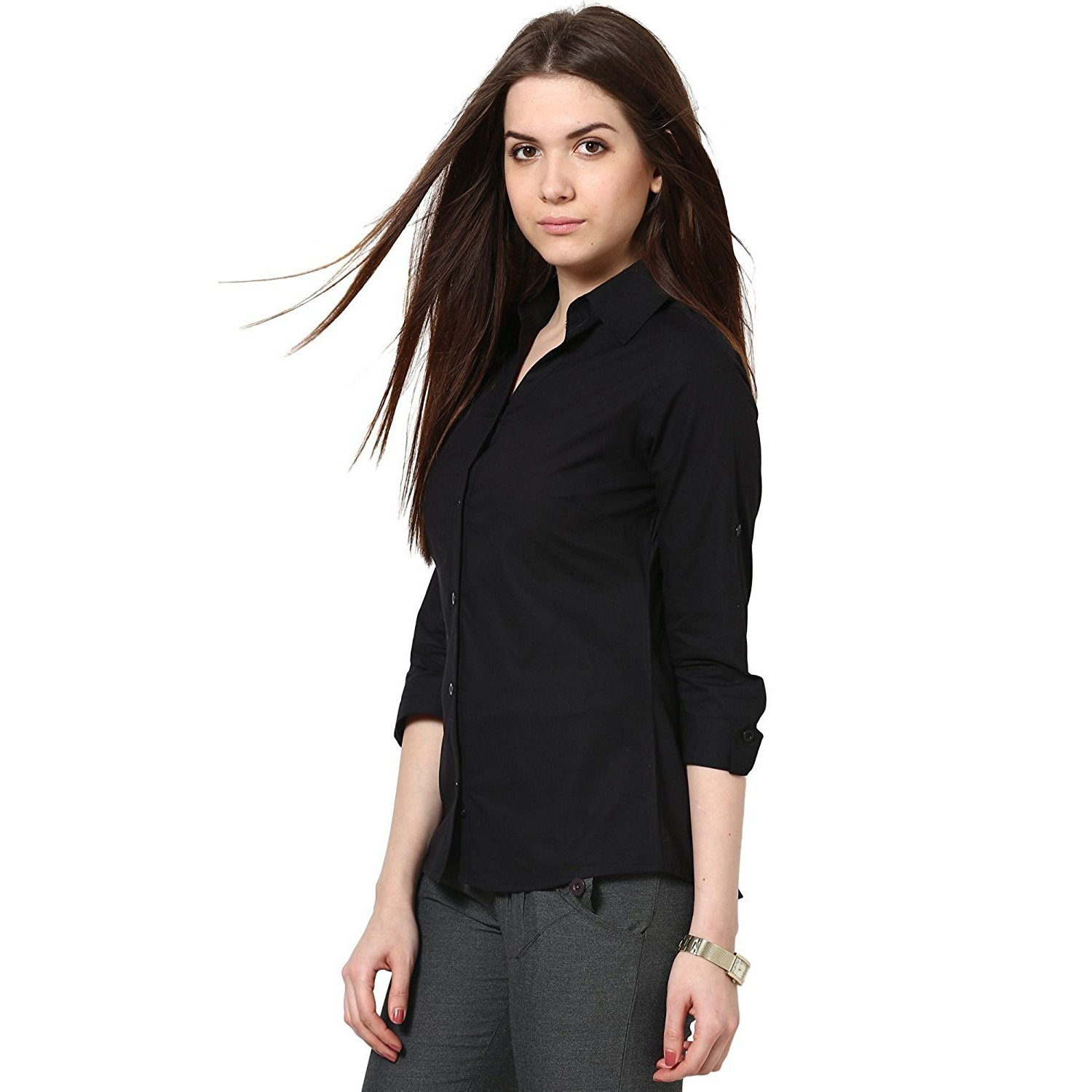 ea624d303c157 C.Cozami Women s Girl s White Maroon Olive Green Casual Shirts  Amazon.in   Clothing   Accessories