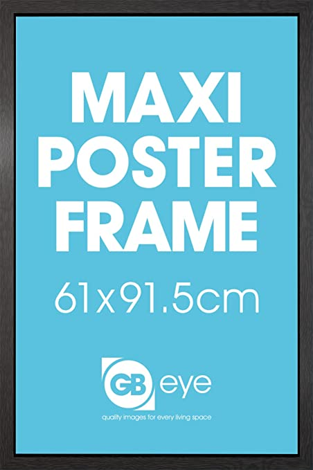 Lijst 61 X 91.Pyramid International Black 61x91 5cm 24x36 Inch Maxi Poster Frame