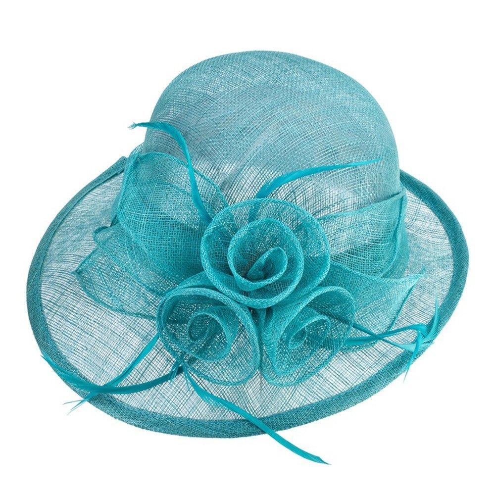 NONGNIML Hats Hüte,Damenmode handgefertigte Blüten Sonnenhut ländlichen Stil Frühling Herbst Sommer Hüte