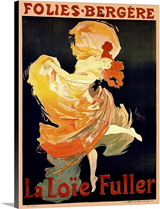 Cognac Monnet  French lady Vintage art Poster Print canvas painting Europe