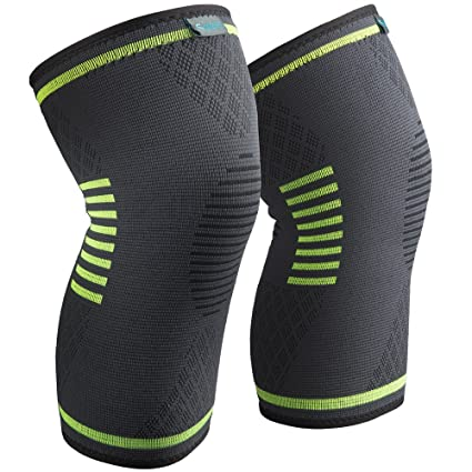 bb67e322ba Sable Knee Brace Compression Sleeves 2 Piece FDA Approved, Support for  Arthritis, ACL,