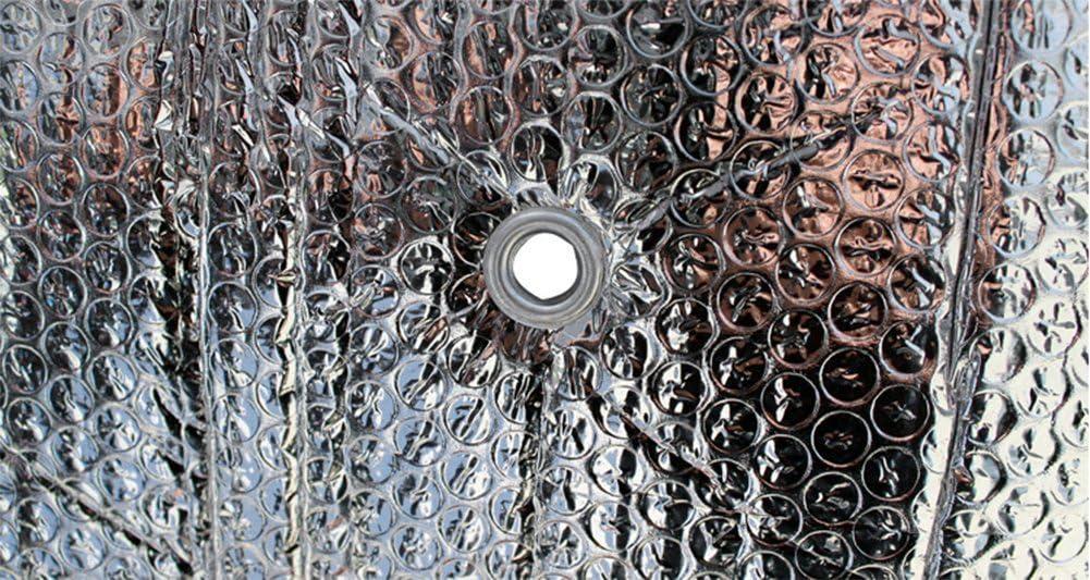 70CM Chytaii Coche Parasol Parabrisas Visera Doble Hoja de Aluminio Visera del Coche Coche Delantero Parabrisas Protecci/ón UV Protecci/ón Solar Silver 140
