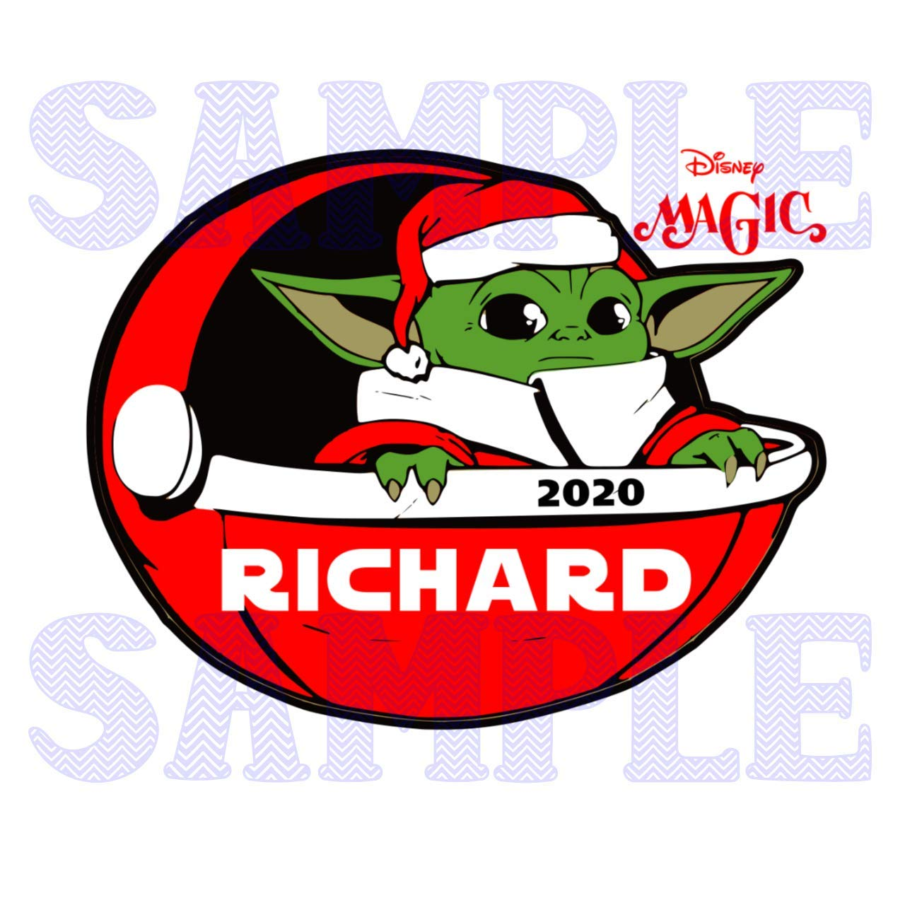 Star Wars the Mandalorian Baby Yoda Magnet. Baby Yoda Star Wars Personalized Christmas Cabin Door Magnet Disney Cruise Jedi Magnet for Stateroom Door